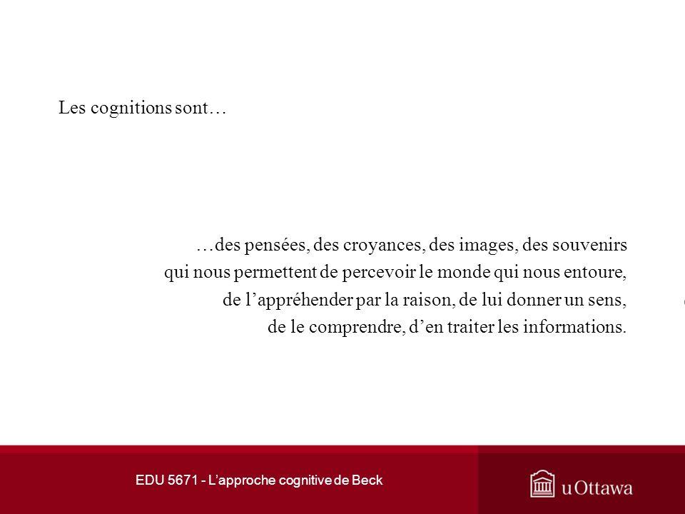 EDU 5671 - L'approche cognitive de Beck