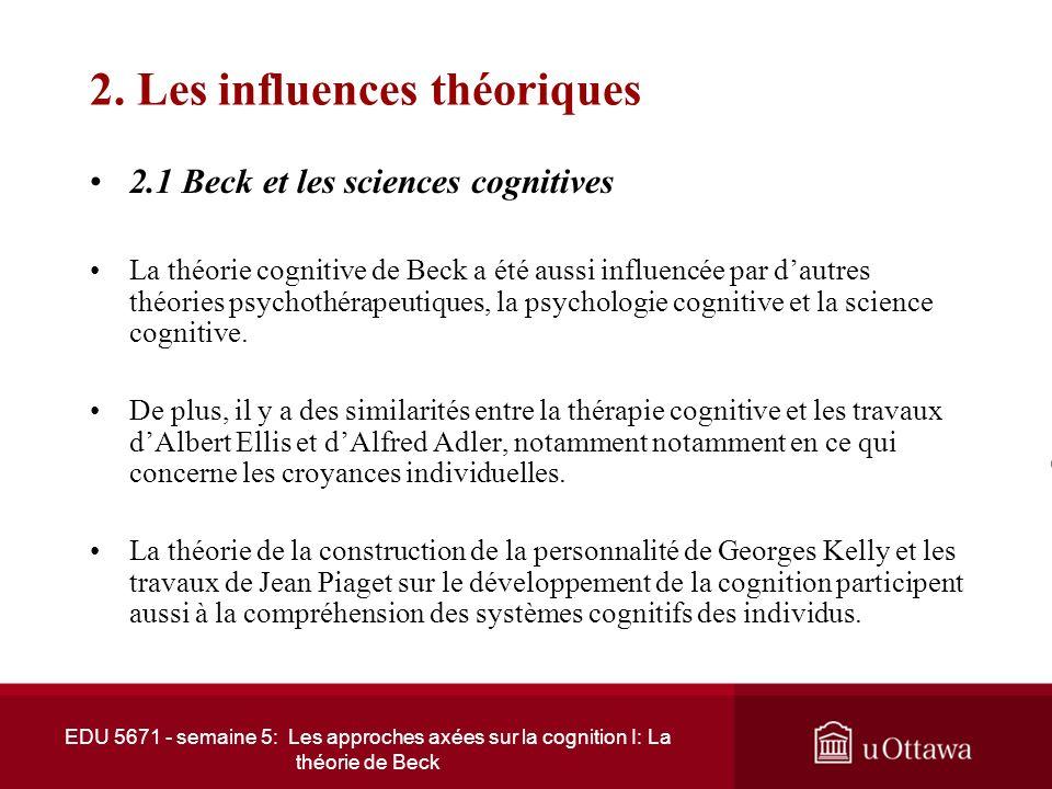 2. Les influences théoriques