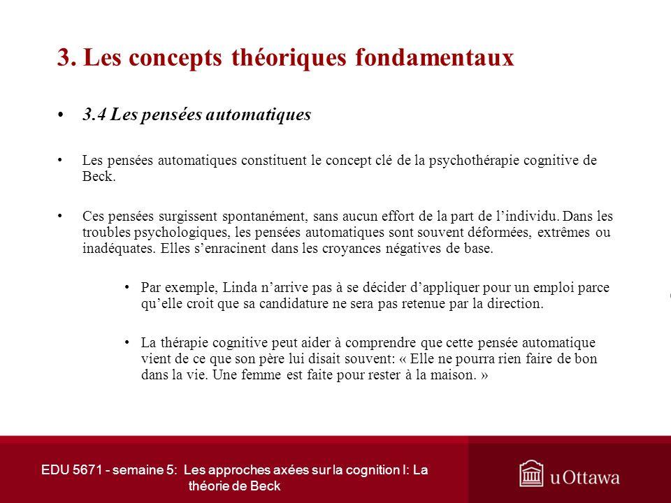 3. Les concepts théoriques fondamentaux