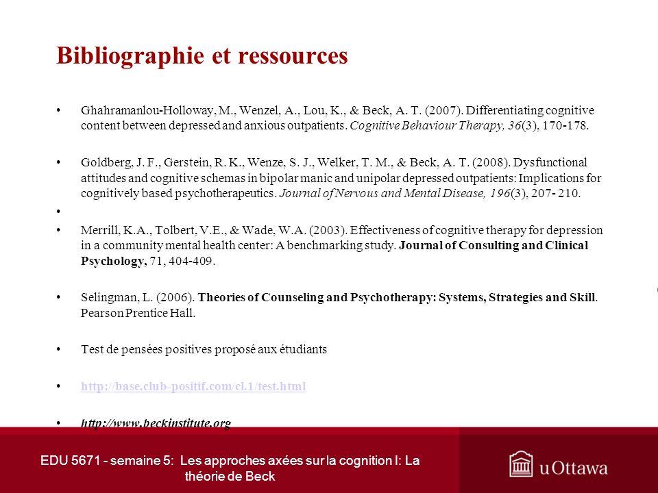 Bibliographie et ressources