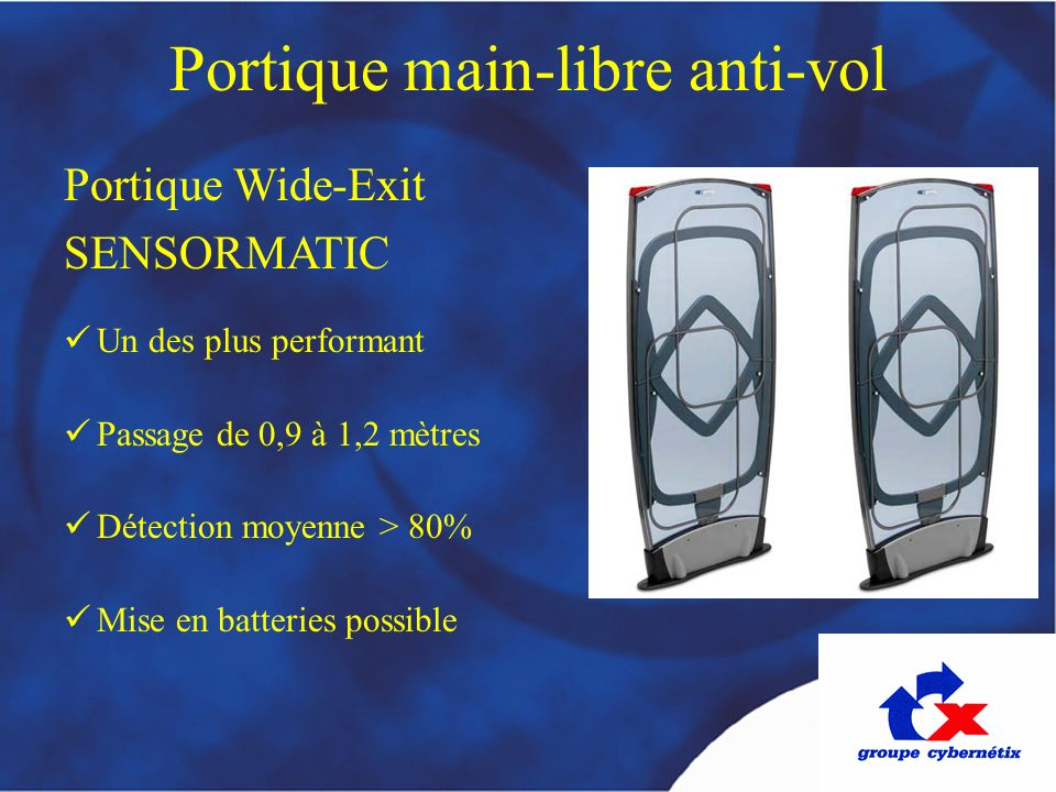Portique main-libre anti-vol