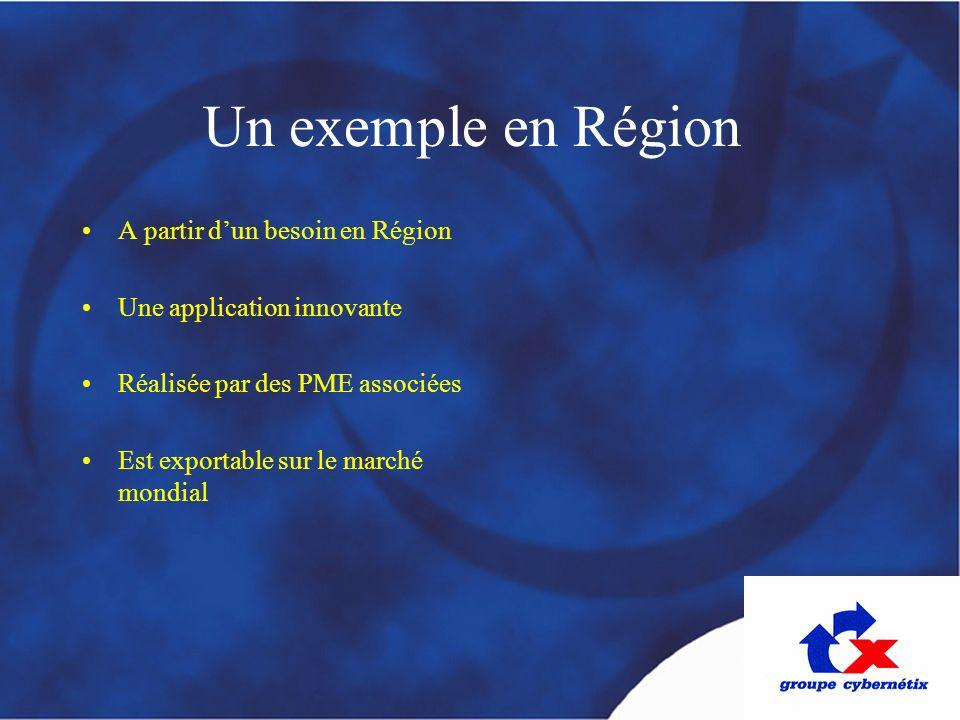 Un exemple en Région A partir d'un besoin en Région