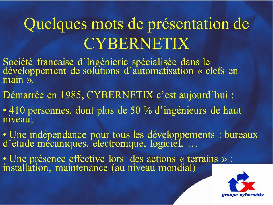 Quelques mots de présentation de CYBERNETIX