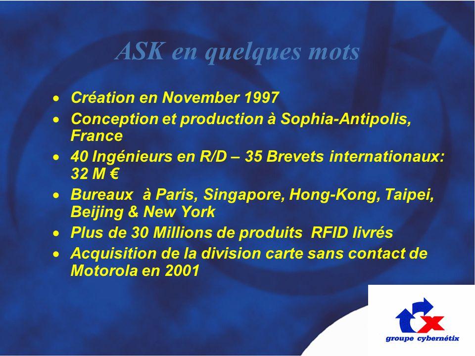 ASK en quelques mots Création en November 1997