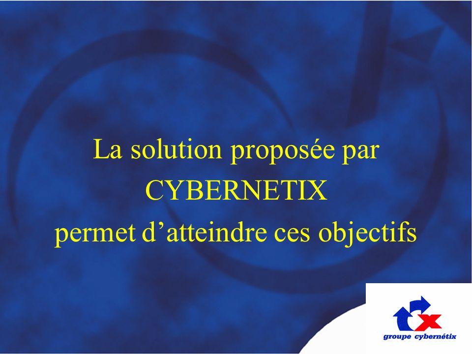 La solution proposée par CYBERNETIX permet d'atteindre ces objectifs