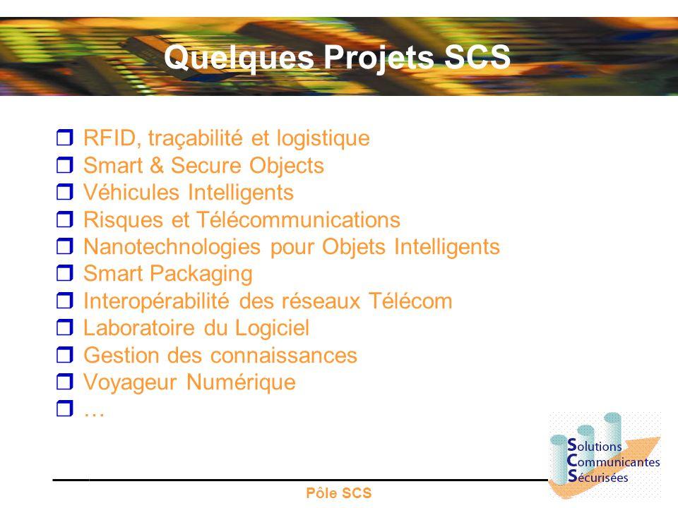 Quelques Projets SCS RFID, traçabilité et logistique