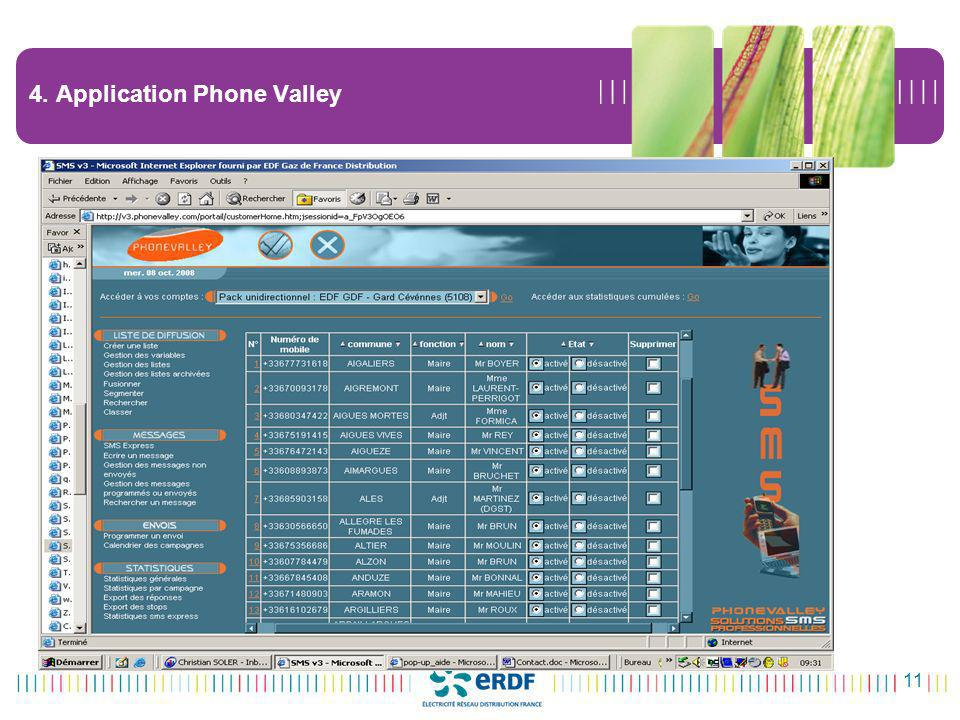 4. Application Phone Valley
