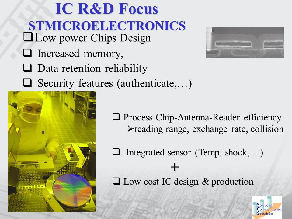 IC R&D Focus STMICROELECTRONICS