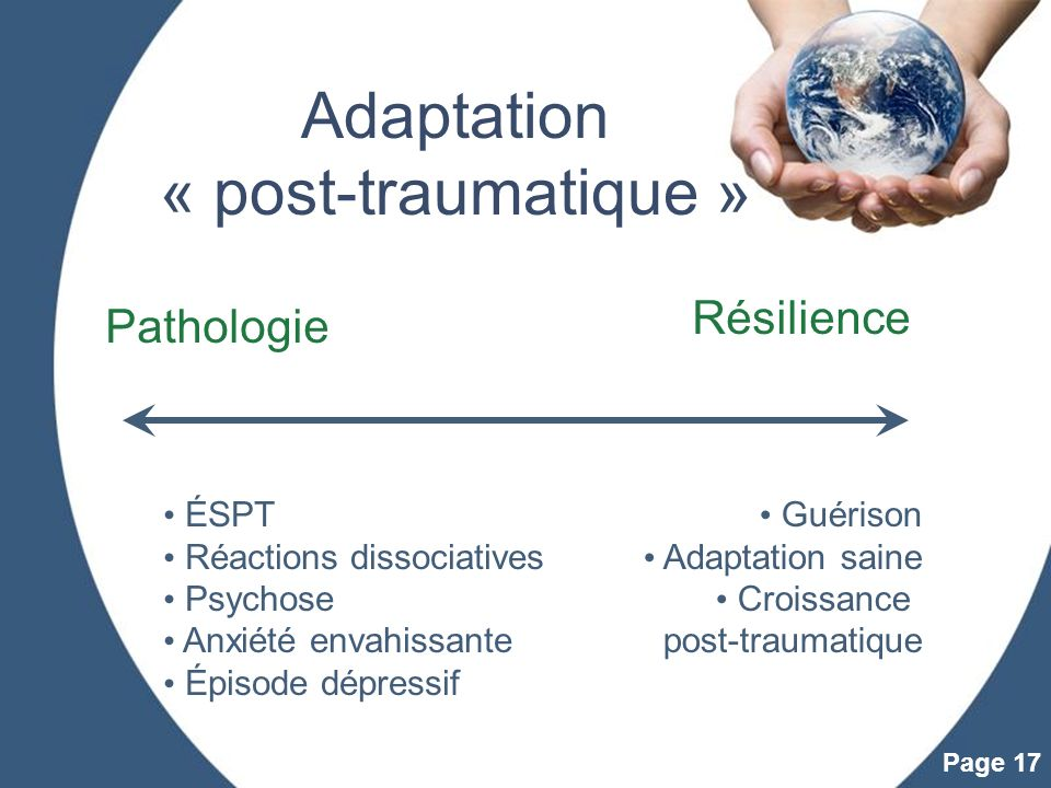 Adaptation « post-traumatique »