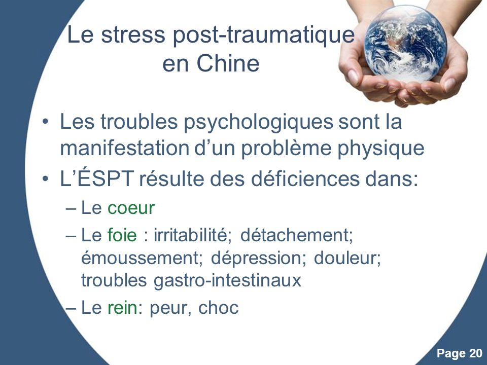Le stress post-traumatique en Chine