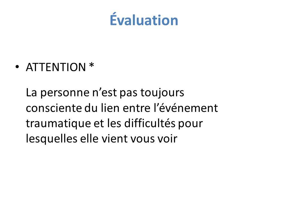 Évaluation ATTENTION *