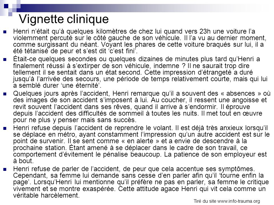 Vignette clinique