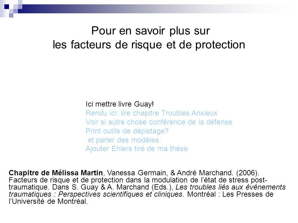 Pour en savoir plus sur les facteurs de risque et de protection