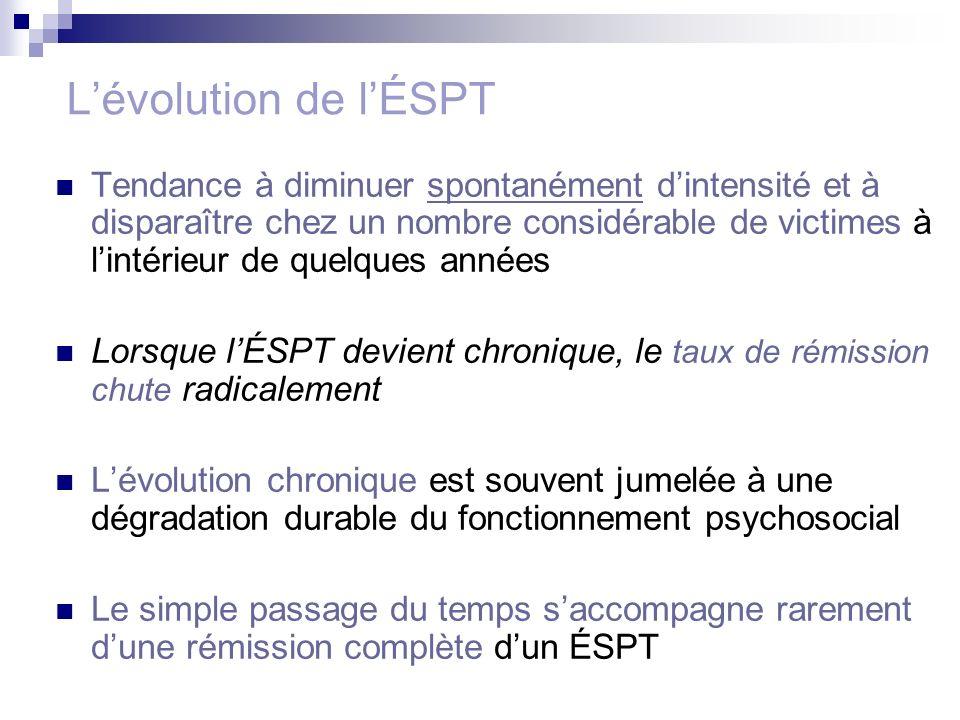L'évolution de l'ÉSPT