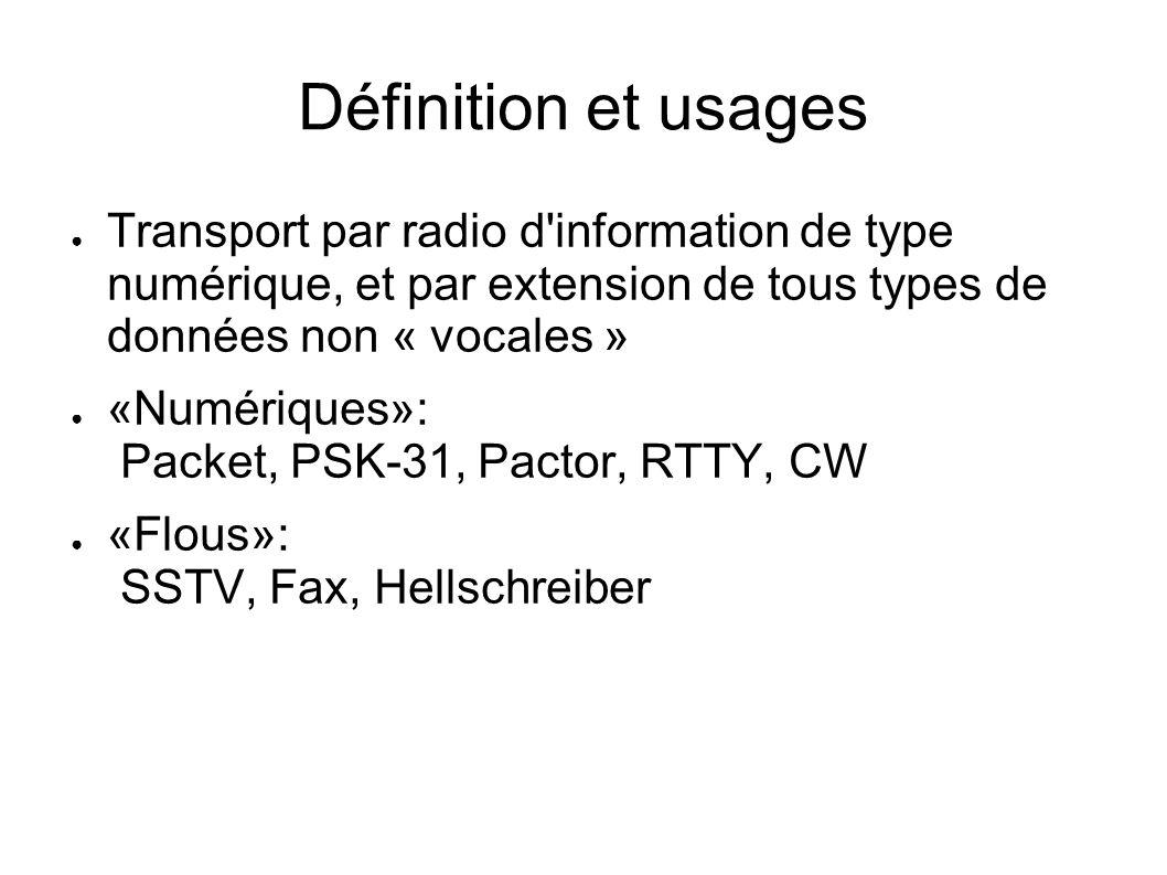 Définition et usages Transport par radio d information de type numérique, et par extension de tous types de données non « vocales »