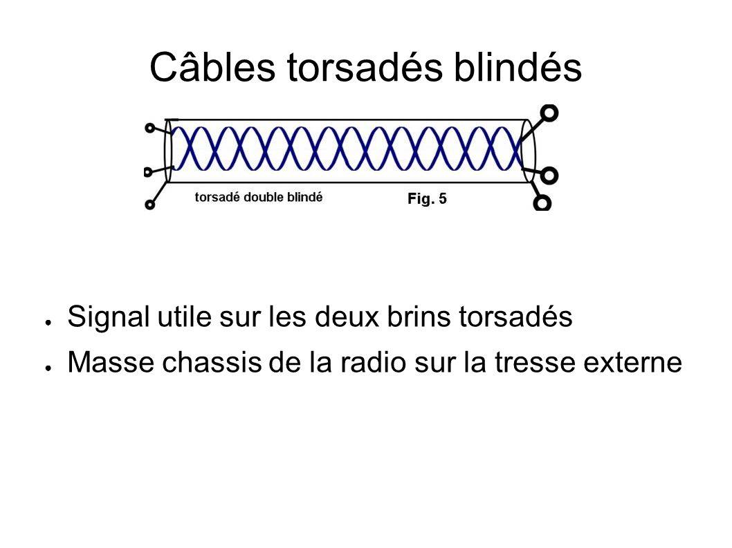 Câbles torsadés blindés