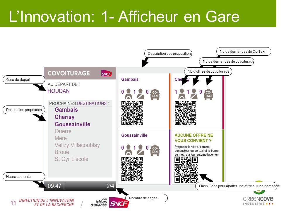 L'Innovation: 1- Afficheur en Gare