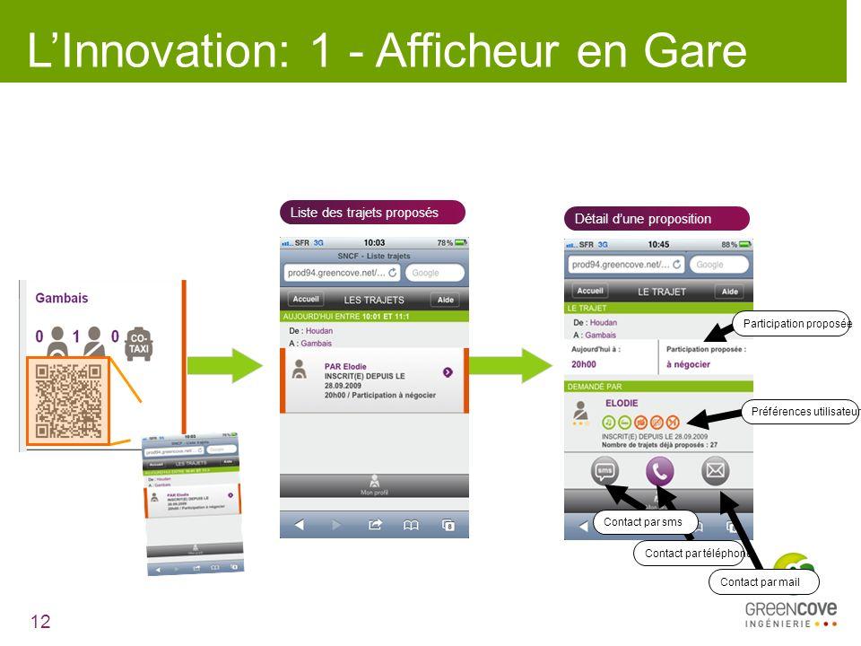 L'Innovation: 1 - Afficheur en Gare