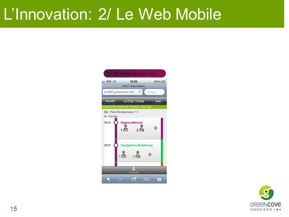 L'Innovation: 2/ Le Web Mobile