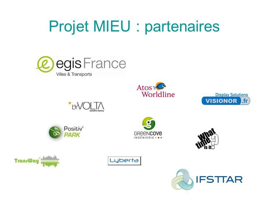Projet MIEU : partenaires