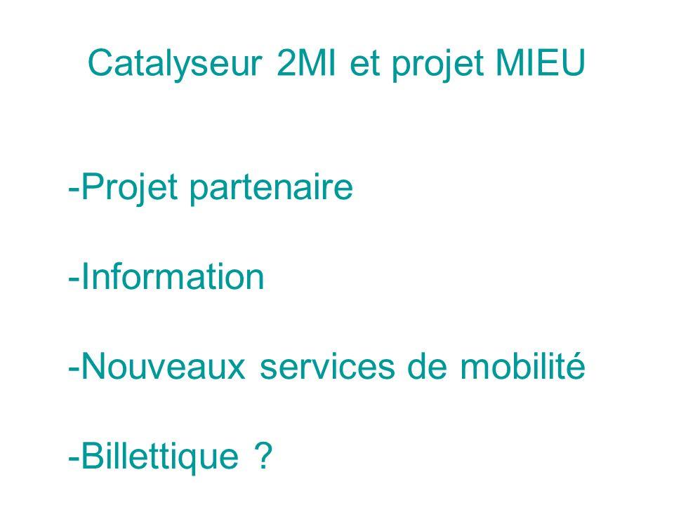 Catalyseur 2MI et projet MIEU