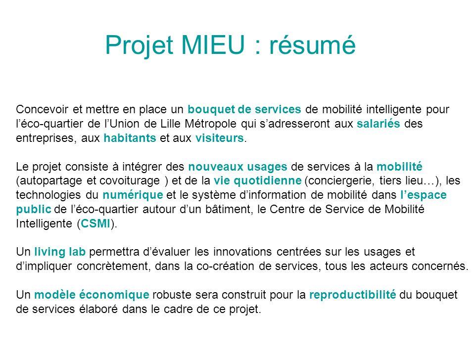 Projet MIEU : résumé