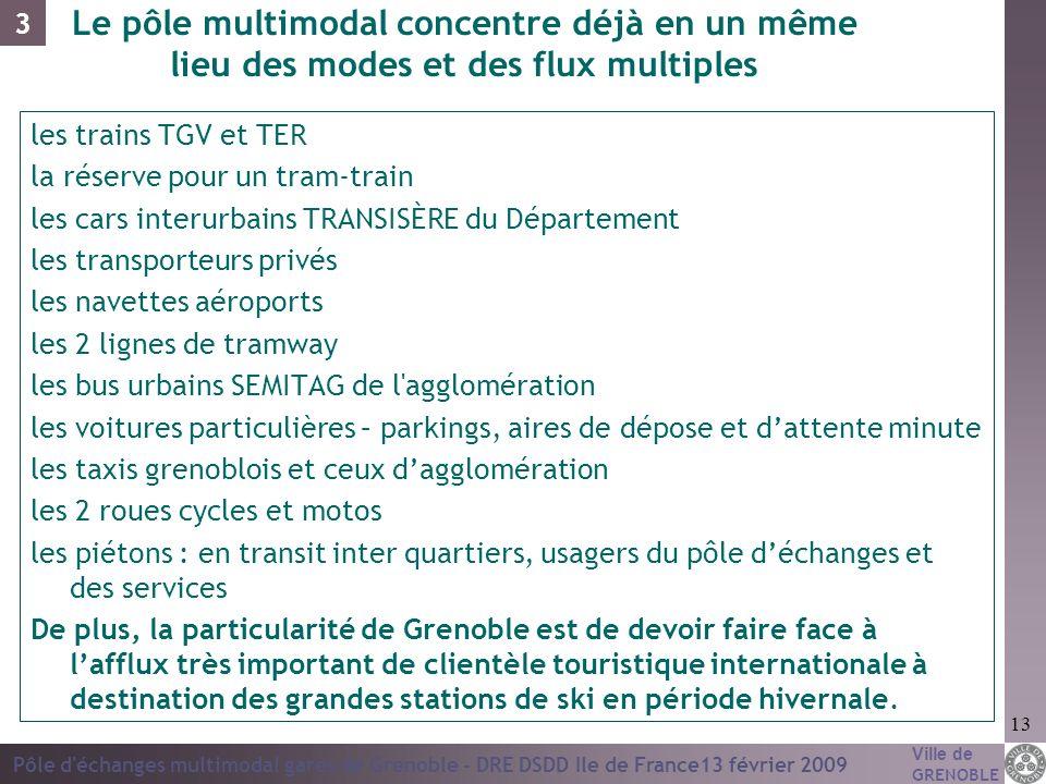 3Le pôle multimodal concentre déjà en un même lieu des modes et des flux multiples. les trains TGV et TER.