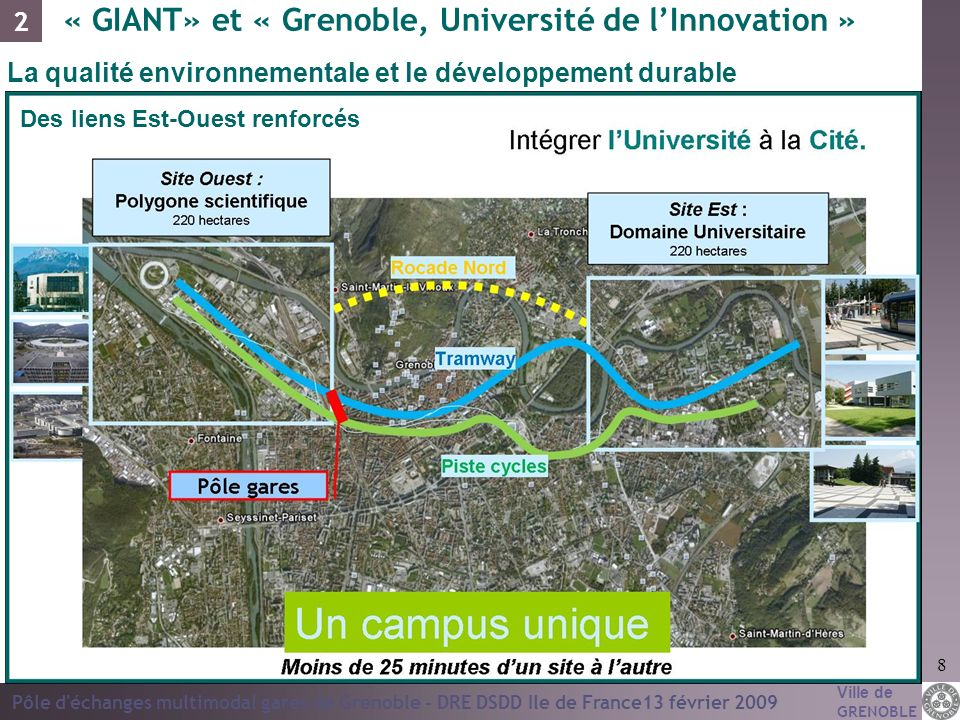 « GIANT» et « Grenoble, Université de l'Innovation »