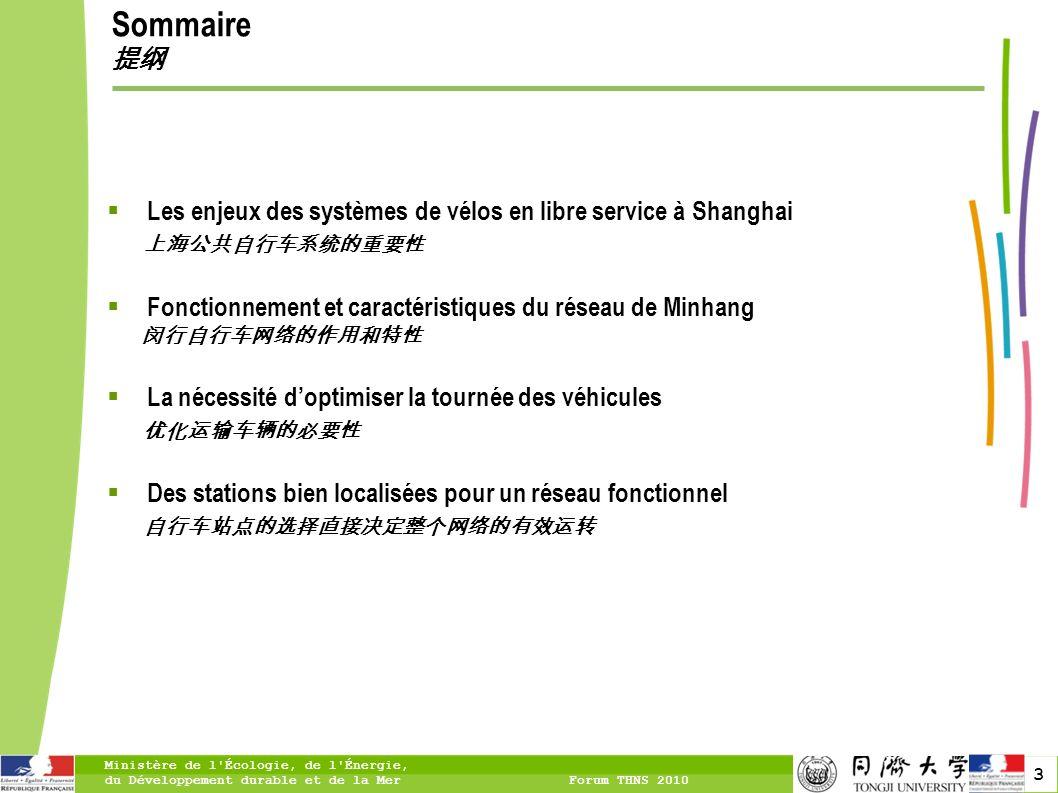 Sommaire 提纲 Les enjeux des systèmes de vélos en libre service à Shanghai. 上海公共自行车系统的重要性. Fonctionnement et caractéristiques du réseau de Minhang.