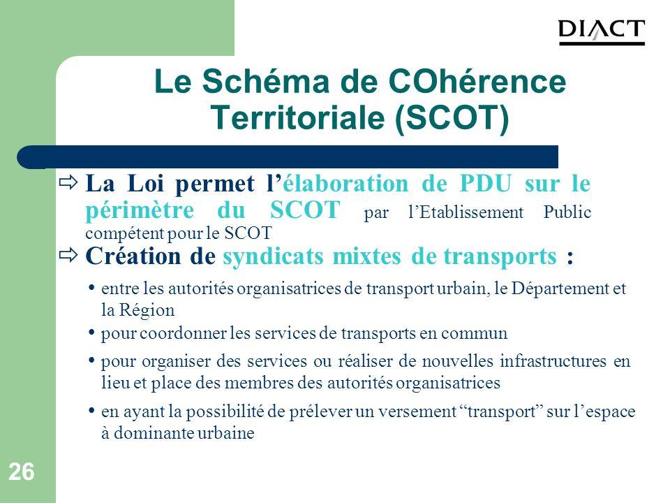 Le Schéma de COhérence Territoriale (SCOT)
