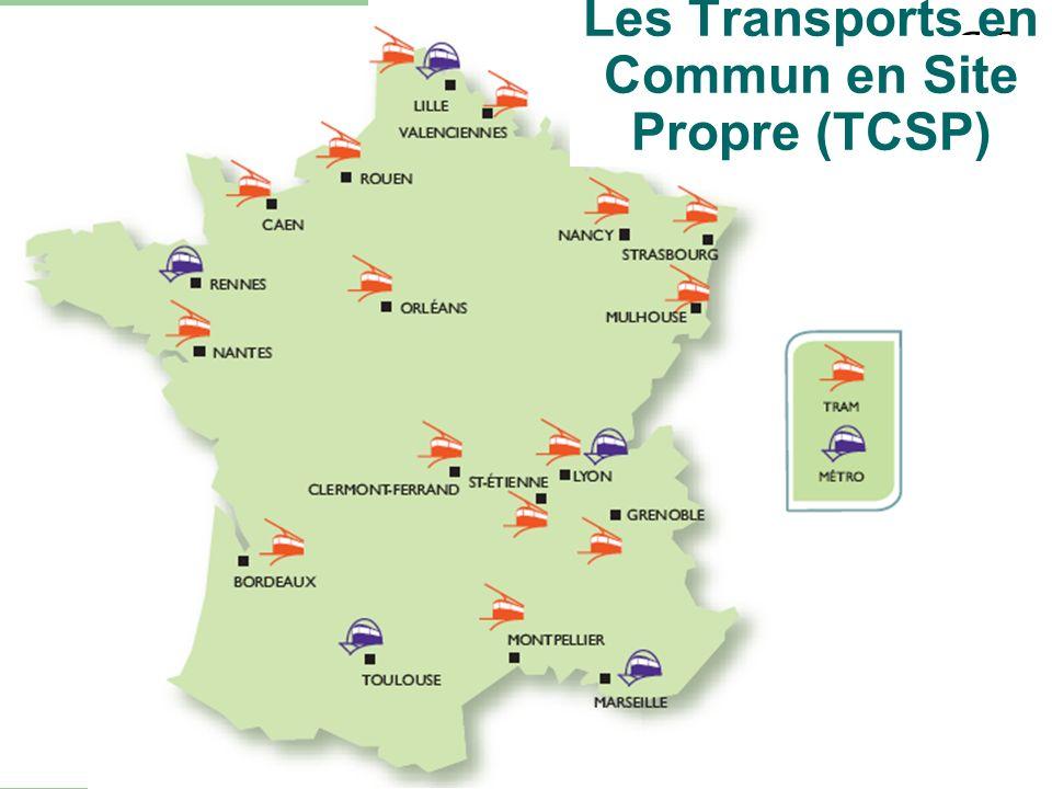 Les Transports en Commun en Site Propre (TCSP)