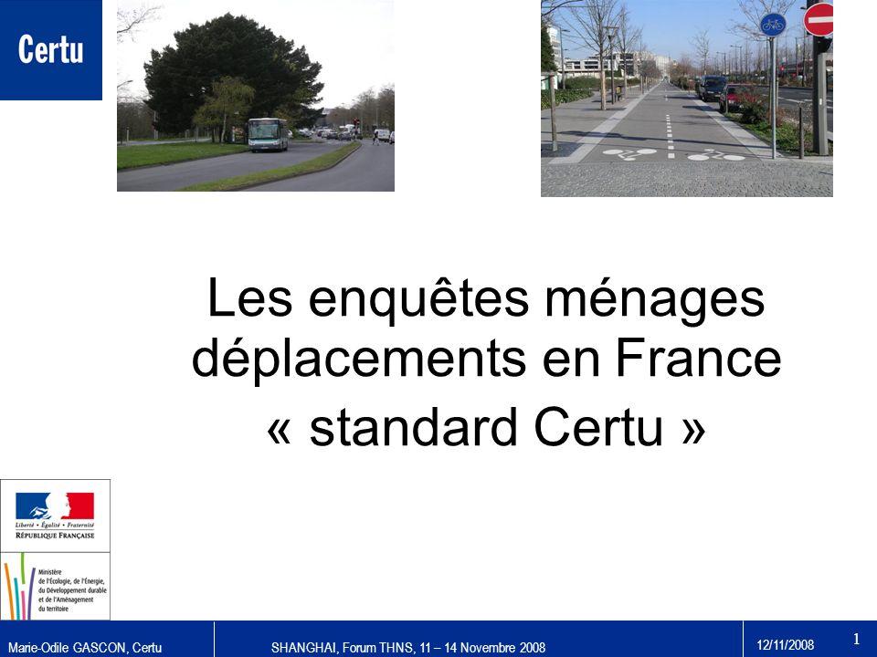 Les enquêtes ménages déplacements en France