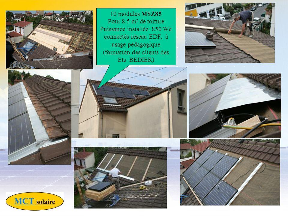 10 modules MSZ85 Pour 8.5 m² de toiture.