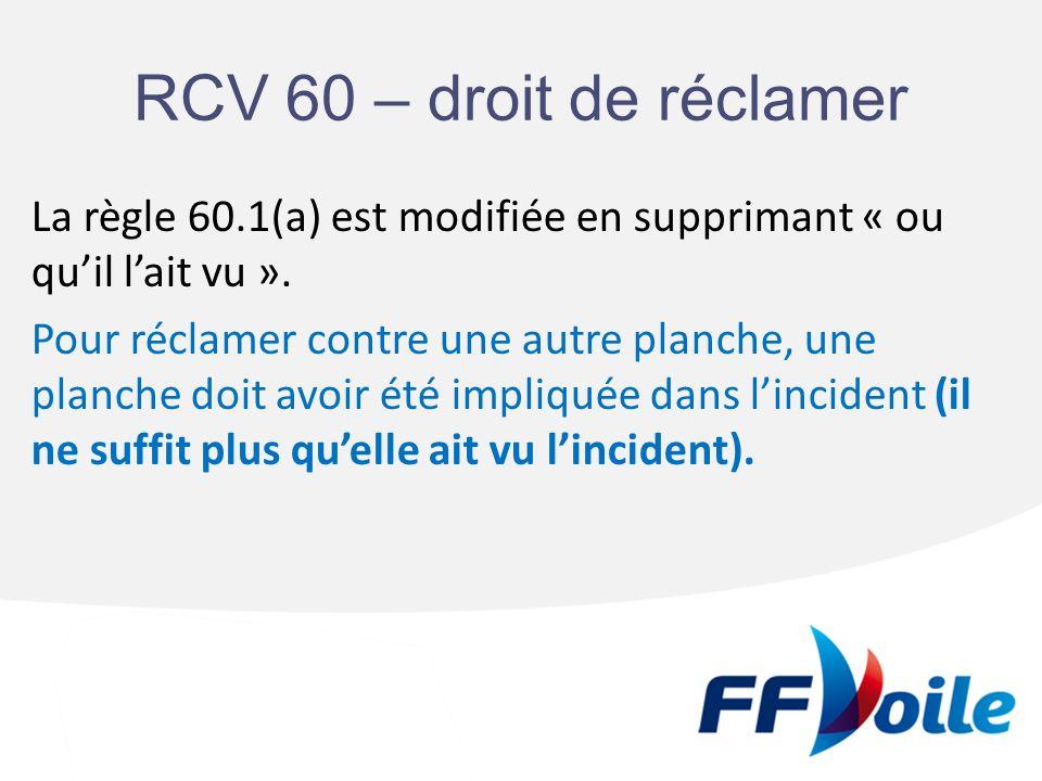 RCV 60 – droit de réclamer