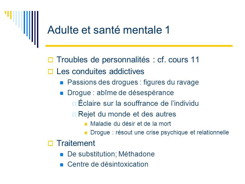 Adulte et santé mentale 1
