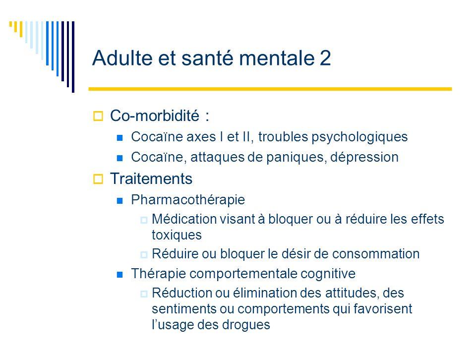 Adulte et santé mentale 2