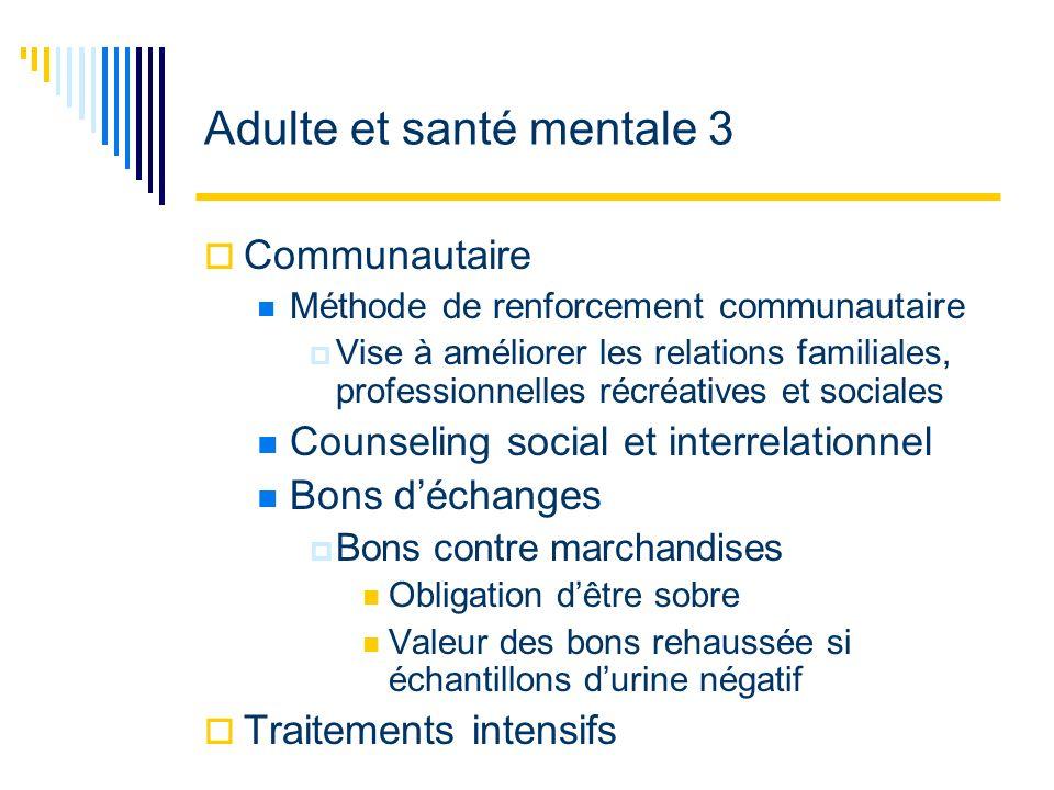 Adulte et santé mentale 3