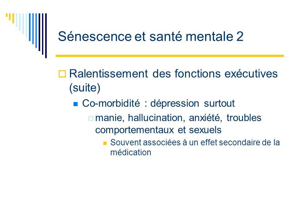 Sénescence et santé mentale 2