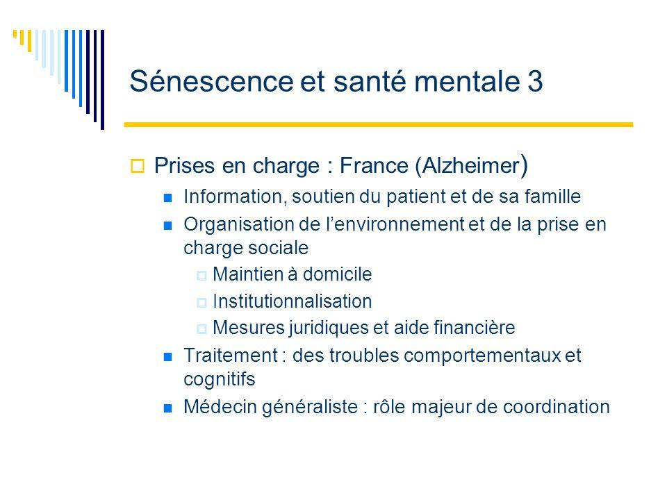 Sénescence et santé mentale 3