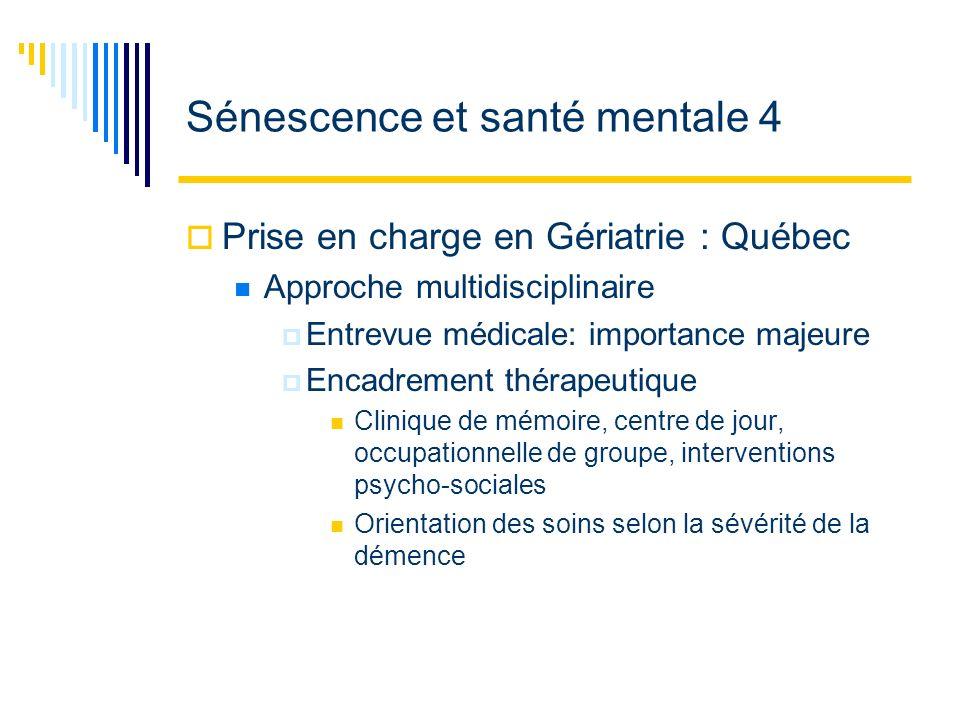 Sénescence et santé mentale 4