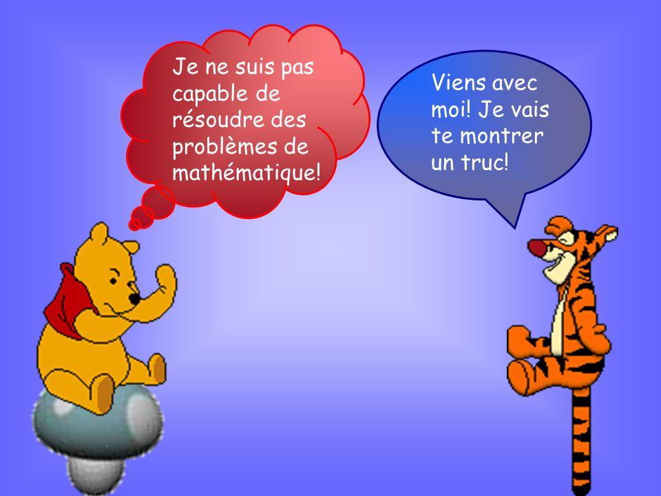 Je ne suis pas capable de résoudre des problèmes de mathématique!