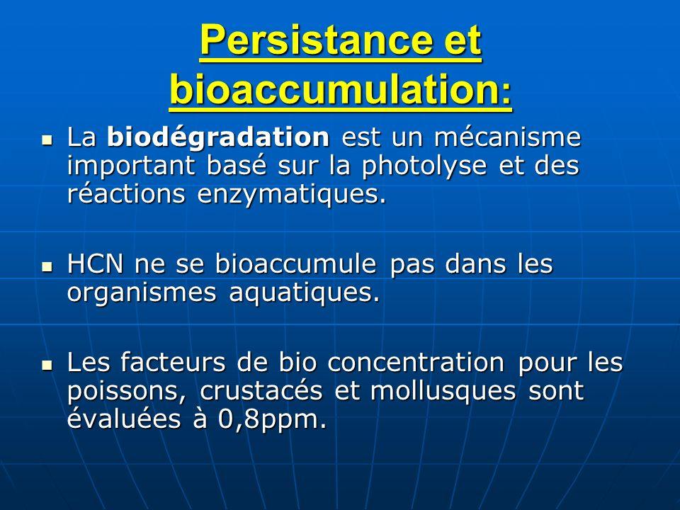 Persistance et bioaccumulation: