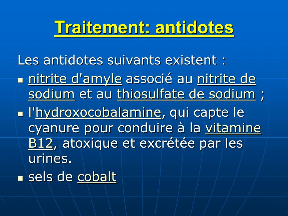 Traitement: antidotes