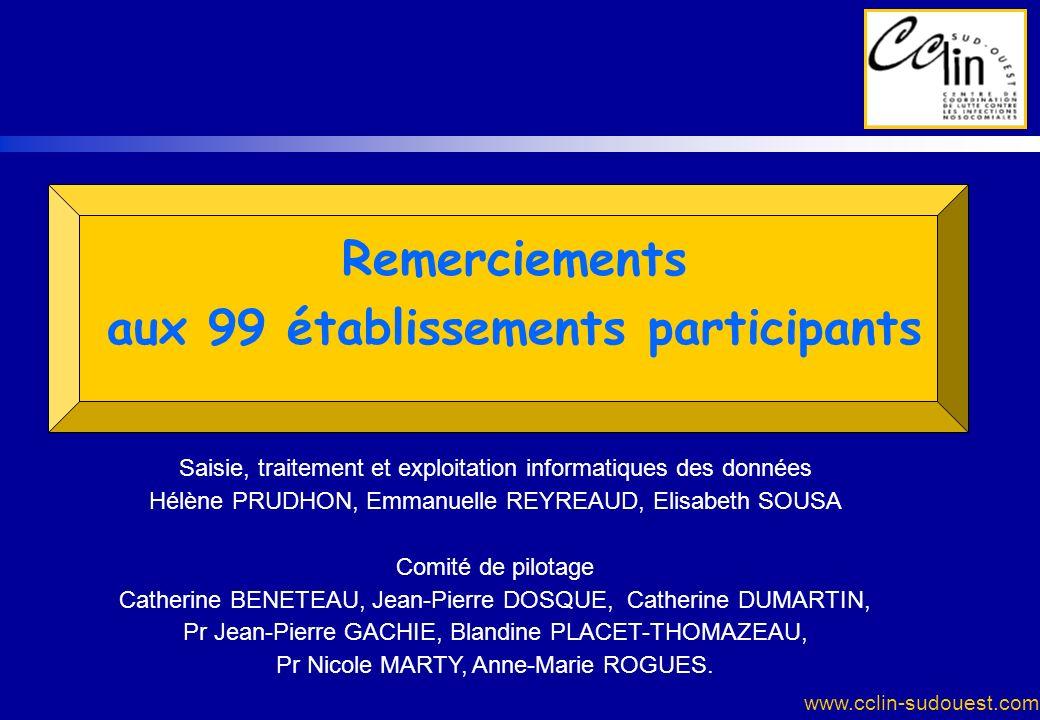 aux 99 établissements participants