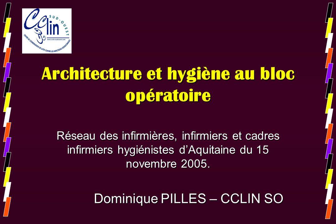 Architecture et hygiène au bloc opératoire