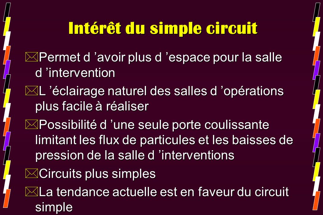 Intérêt du simple circuit