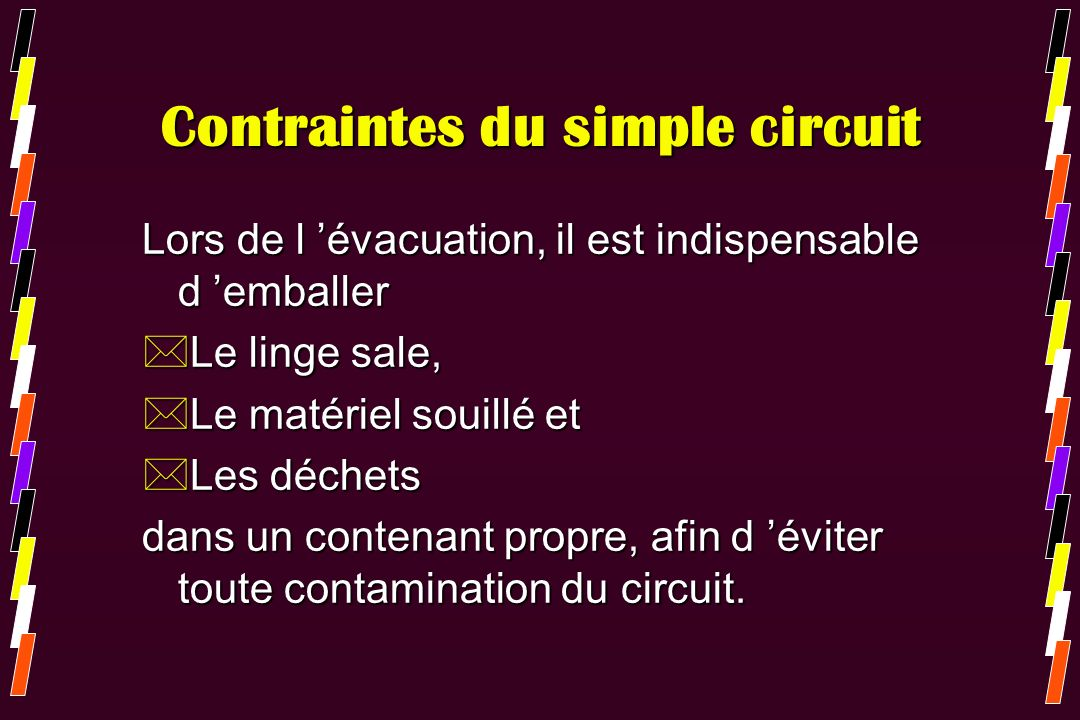 Contraintes du simple circuit