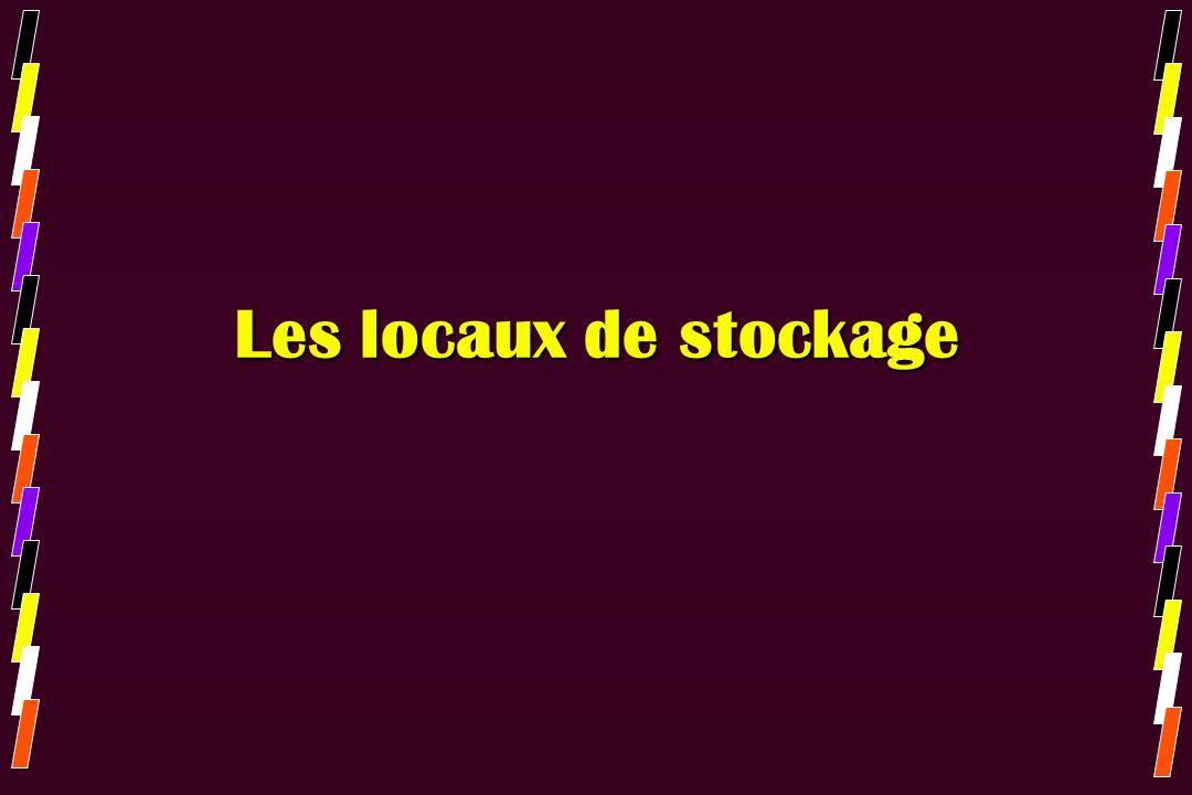 Les locaux de stockage