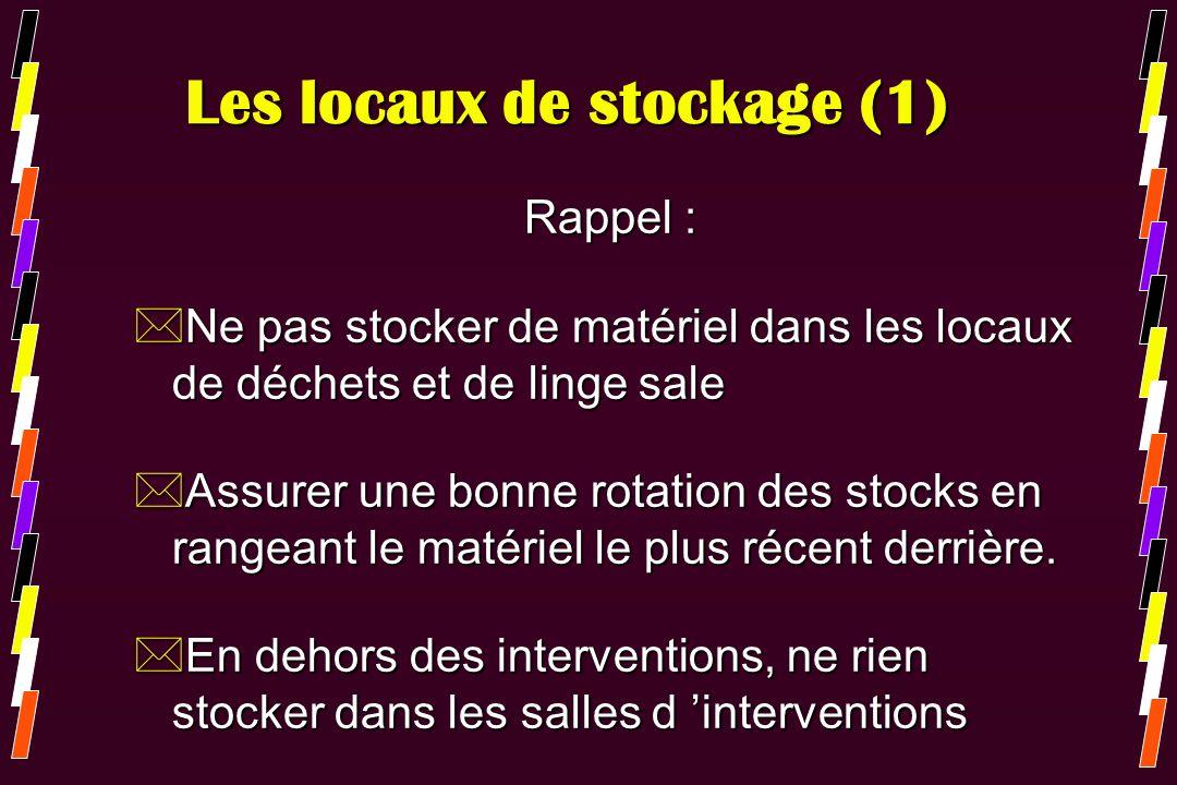 Les locaux de stockage (1)