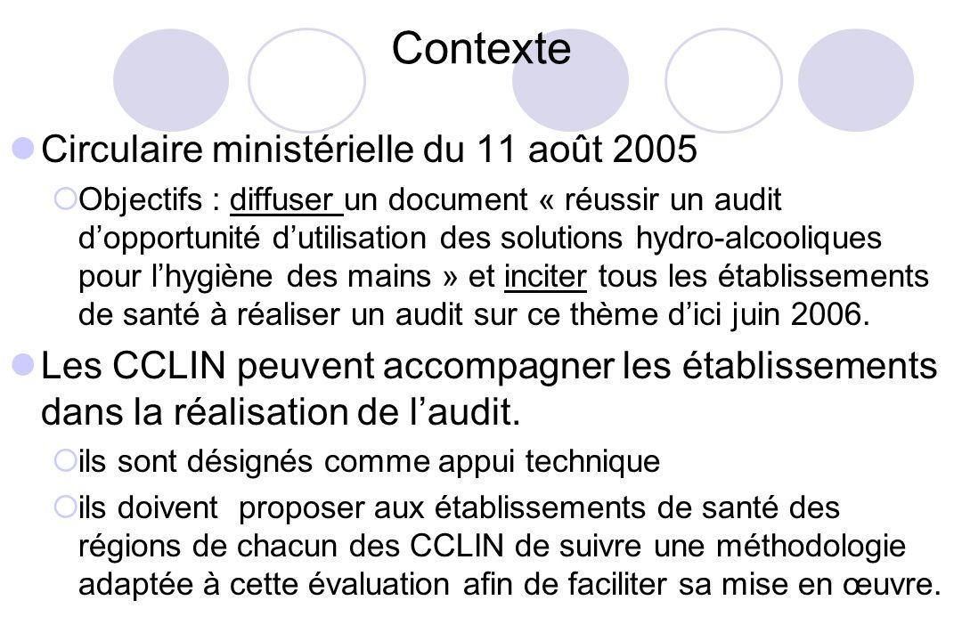 Contexte Circulaire ministérielle du 11 août 2005